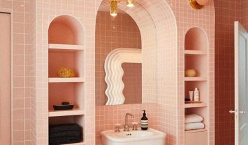 5 Vintage Inspired Pink Bathrooms